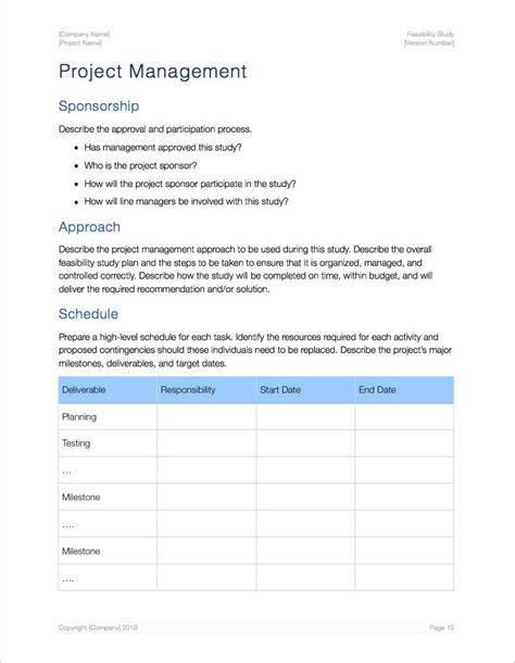Study Template Feasibility Study Template Apple Iwork Pages