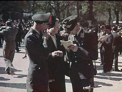 amazing color   occupied paris  world war ii