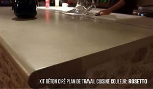 Faire Un Plan De Travail En Béton Ciré : plan de travail beton cellulaire best sol with plan de travail beton cellulaire duune cuisine ~ Farleysfitness.com Idées de Décoration