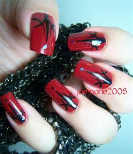 Halloween nail design dark red sexy nails