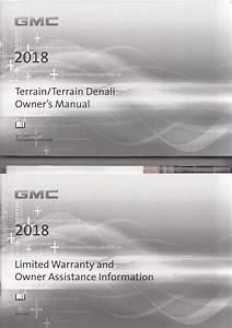 2018 Gmc Terrain Owner U0026 39 S Manual Original