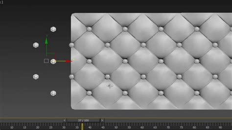 Divano Chesterfield 3ds Max : Chesterfield New Method