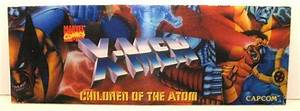 X-men  Children Of The Atom Arcade Game Plexi Marquee For Sale