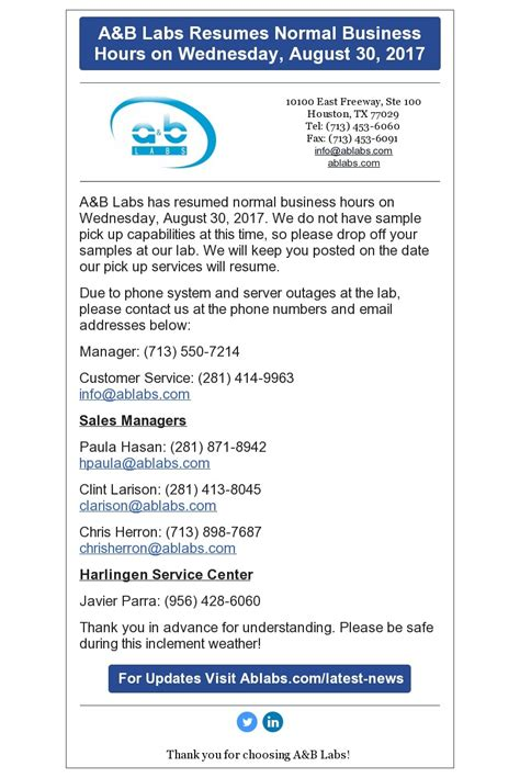 17025 food service resumes ab labs resumes normal business hours v2