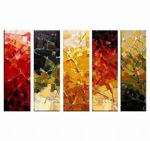Tableau Peinture Moderne : peinture abstraite moderne four seasons ~ Teatrodelosmanantiales.com Idées de Décoration