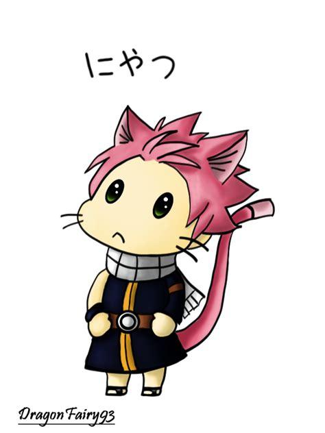 fairy tail chibi neko natsu nyatsu  dragonfairy