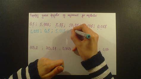 Decimalni brojevi. Poredjaj decimalne brojeve od najmanjeg ...