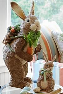 Natural Standing Bunny Easter Decor Home Decor Ideas
