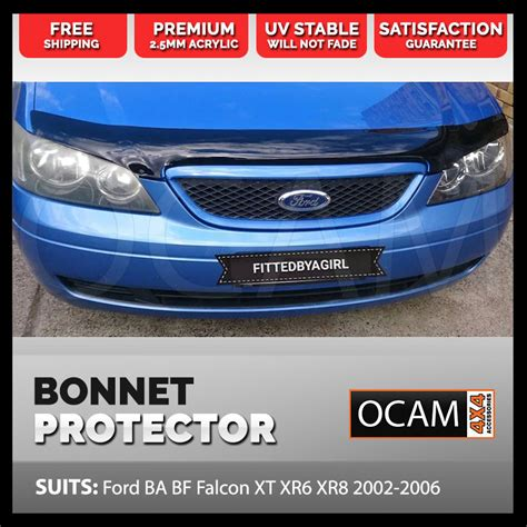 premium ford ba bf   bonnet protector guard