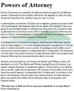 affidavit  validity  power  attorney official