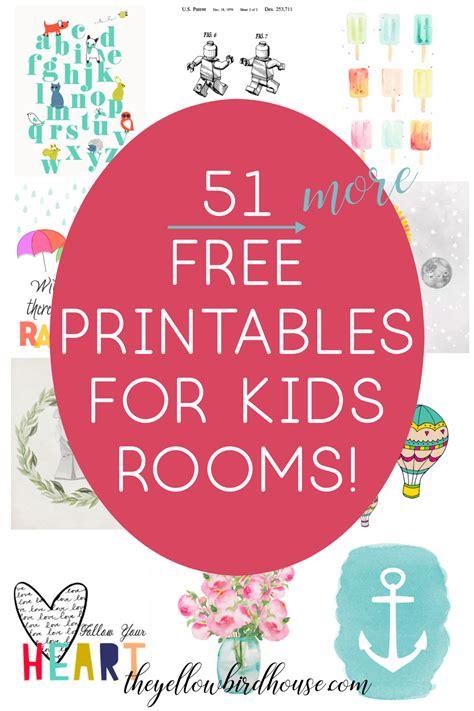 51 free printables for kids rooms nursery decor series