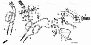 Honda Motorcycle 2000 Oem Parts Diagram For Handle Lever