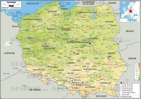 Pologne Carte Europeenne by Carte De La Pologne Plusieurs Cartes Du Pays De L Est De