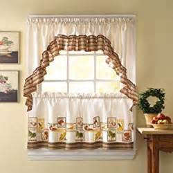 amazon com cocina kitchen curtains ruffled swag home