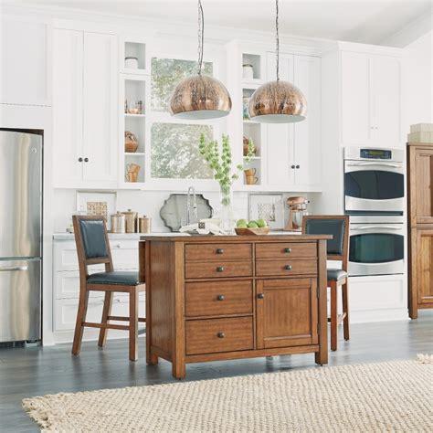 Aged Maple Kitchen Island Set  Tahoe  Rc Willey