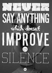 Blog - 29 Black... Silence Golden Quotes