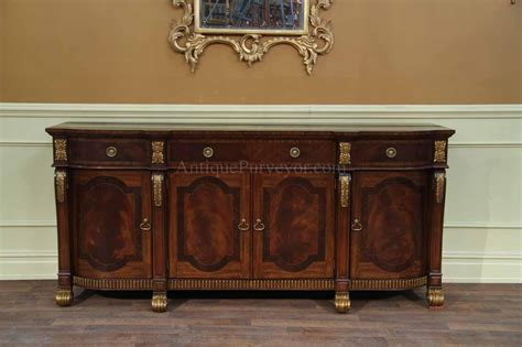 Regency Sideboard by Large Mahogany Regency Style Sideboard With Gold Accents