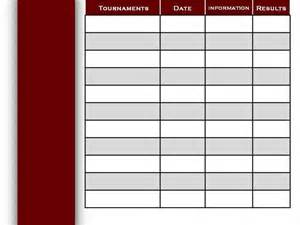 Tournament Grid Template