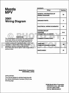 2001 Mazda Mpv Wiring Diagram Manual Original