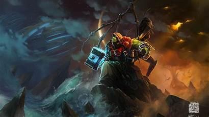 Warcraft Shaman Thrall Wow Ocean Wallpapers Ua