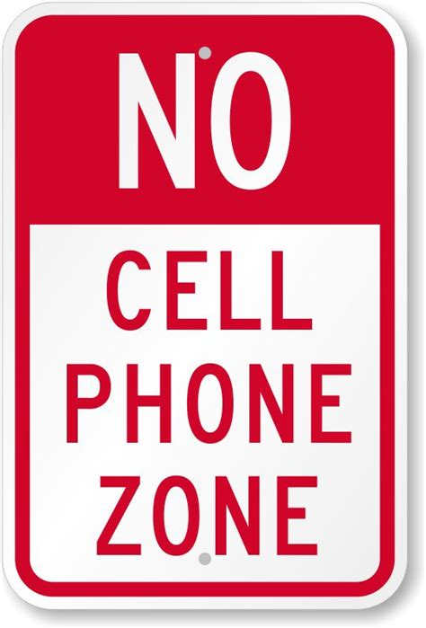 Outdoor No Cell Phone Signs Science Pinterest Signs
