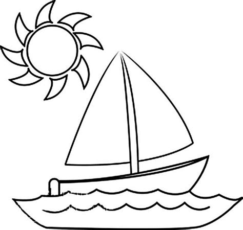 Boat Drawing Outline by Outline Of Boat Clipart 44