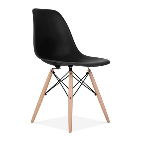 eames design chair eames style black dsw chair side cafe chairs cult