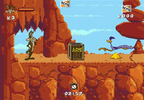 Desert Demolition Starring Road Runner Wile E Coyote stare gry gra desert demolition 640 x 448 · png
