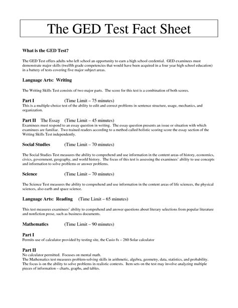 16 best images of ged print out worksheets free ged math
