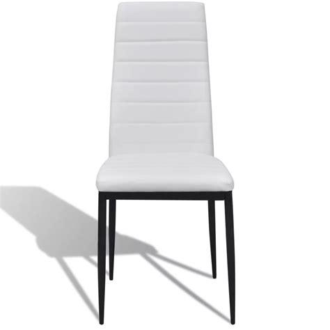lot de 6 chaises blanches la boutique en ligne lot de 6 chaises blanches aux lignes