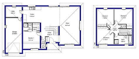 plan maison etage 4 chambres plan etage maison plan maison etage plan du0027ajout