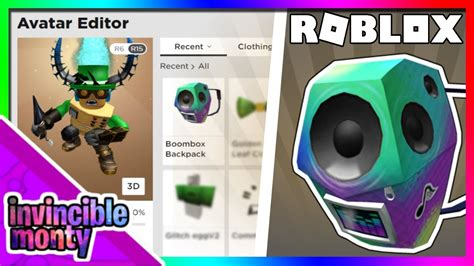 boombox backpack roblox code  robux