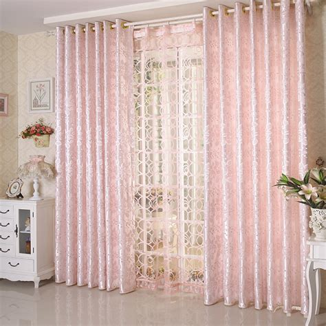 jacquard light pink 60 shade curtain for living room