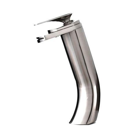 waterfall faucet brushed nickel kokols single 1 handle vessel waterfall bathroom