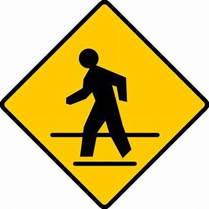 Crosswalk Sign Clip Vector Svg