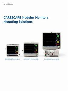 Carescape Modular Monitors Mounting Solutions Rev 3 March