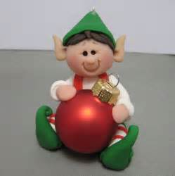 elf polymer clay christmas ornament decoration