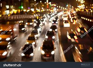 Motion Blur Rush Hour Late Afternoon Stock Photo 85497538 ...