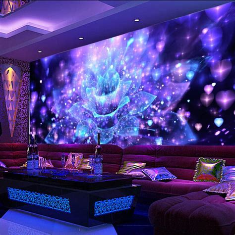 custom  large wallpaper murals  ktv bar ballroom