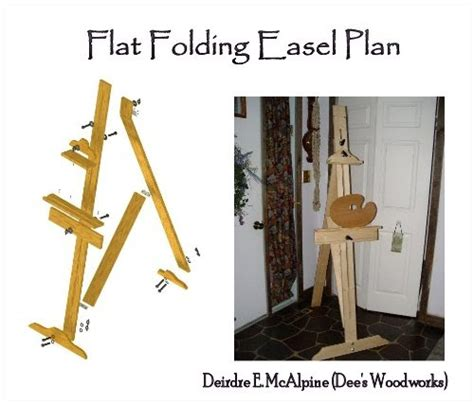 woodworking plan easel desk project