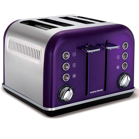 morphy richards toaster argos morphy richards plum accents 4 slice toaster and kettle