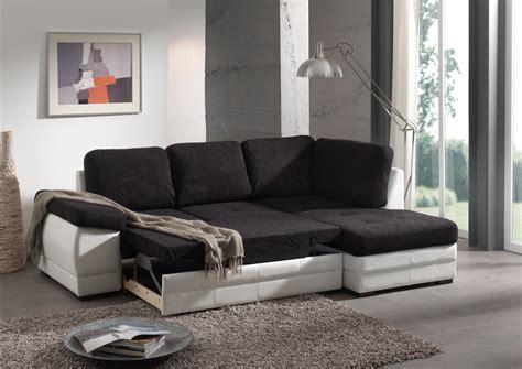 canapé d angle convertible noir et blanc canapé d 39 angle contemporain convertible en tissu coloris