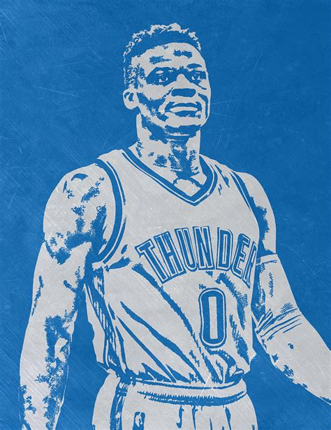 Russell Westbrook Scratched Metal Art 3 Mixed Media By Joe