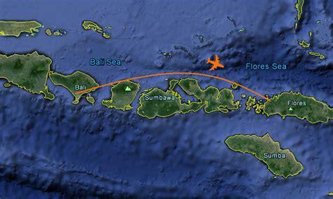 map flight  bali  flores   komodo national