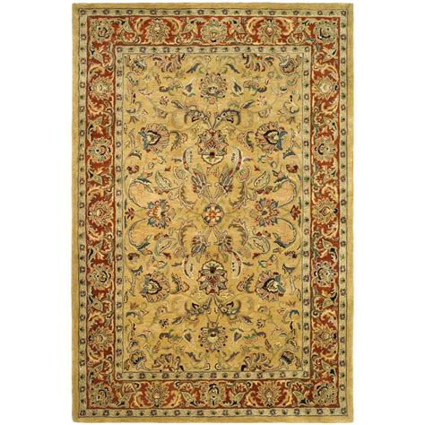 5 8 Area Rugs by Safavieh Classic Gold 5 Ft X 8 Ft Area Rug Cl398a 5