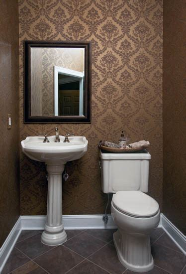 ideas for small guest bathrooms wallpapered powder room traditional powder room