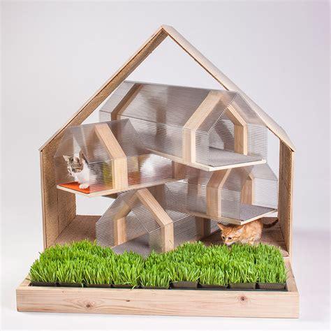 modern cat house 14 inspiring custom built modern cat houses revealed at la fundraising event freshome com