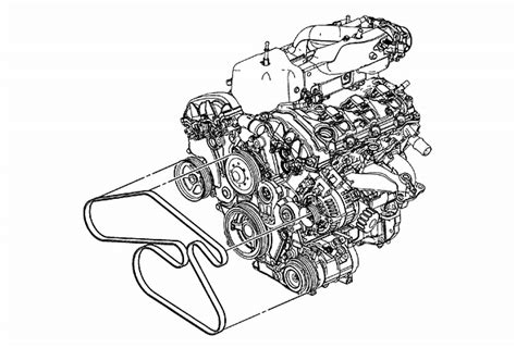 gmc acadia   serpentine belt diagram serpentinebelthqcom