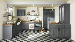 une deco de style maison de famille dans la cuisine With attractive idee deco bureau maison 10 repeindre un meuble en bois idees et conseils