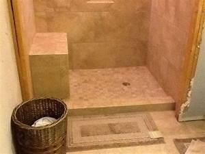 Converted, Bath, Tub, Area, Into, A, Shower